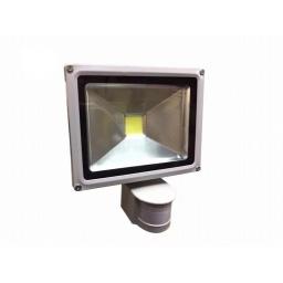FOCO REFLECTOR LED DE 20W CON SENSOR DE MOVIMIENTO