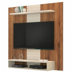 PANEL TV SMART COLOR RUSTICO CON BLANCO