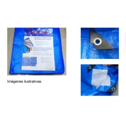 LONA IMPERMEABLE 5 X 4 CON PROTECCION UV CONFECCIONADA EN PE