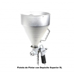 PISTOLA DE PINTAR PARA REVESTIMIENTOS TEXTURA TOLVA MICHELIN 5LTS