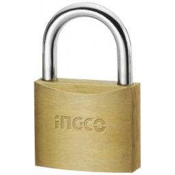 CANDADO BRONCE 50MM INGCO 3 LLAVES DBPL0503