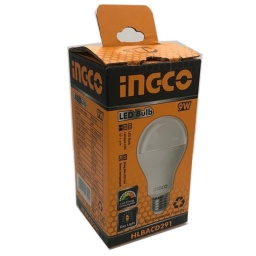 LAMPARA LED 9W E27 LUZ FRIA INGCO HLBACD291 CALIDAD A