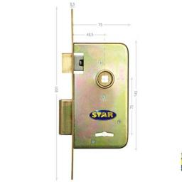 CERRADURA SEGURIDAD STAR 603 ZING TIPO BOCC PASADOR RECTANGULAR puerta porton reja original