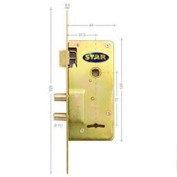 Cerradura Seguridad Star Junior 210 S 2 Perno Acero Zincado
