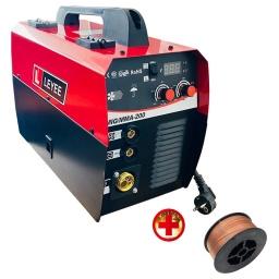 SOLDADORA 2 EN 1 MIG ELECTRODO 200 AMP GAS NO GAS + ALAMBRE