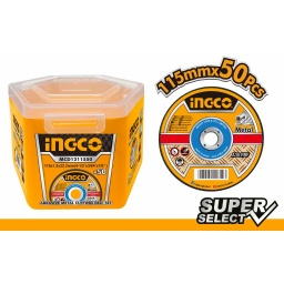 LATA X 50 DISCOS 4 1/2 X 1.2MM CORTE METAL INGCO SUPER SELECT