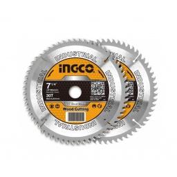 """SET X2 DISCOS DE SIERRA (7-1/4"""") 30D INGCO SUPER SELECT TSB118510"""