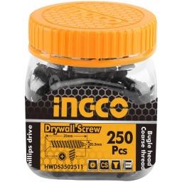 TORNILLO DE YESO 250PCS INGCO HWDS3502511 3.5X25MM