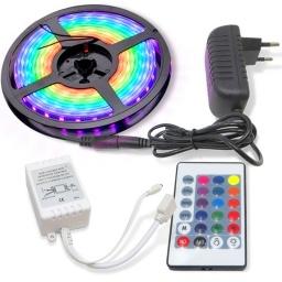ROLLO TIRA LED RGB 5 MTS C/CONTROL REMOTO 16JG303