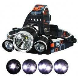 LINTERNA MINERO 3 LED RECARGABLE CAZA/PESCA