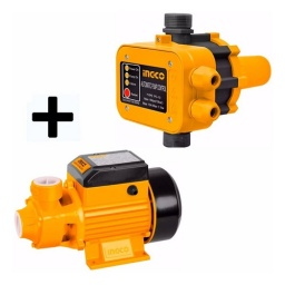 KIT BOMBA PERIFERICA INGCO 1/2HP+ AUTOMATICO PRES CONTROL