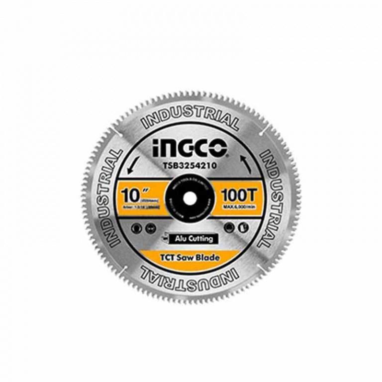 DISCO SIERRA INGLETADORA 10 100 DIENTES ALUMINIO MADERA INGCO TSB3254210